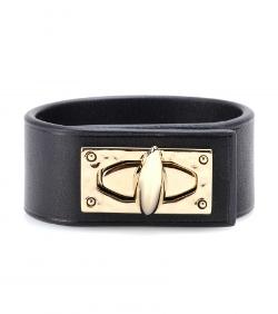 Givenchy - Shark Turn-Lock Leather Bracelet
