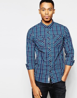 Tokyo Laundry  - Chest Pockets Checked Shirt