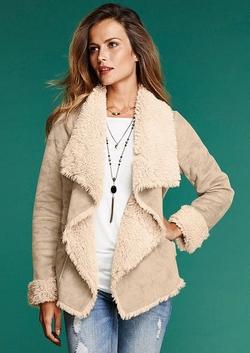 Alloy Apparel - Cascade Faux Shearling Coat