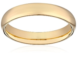 Amazon Curated Collection - Comfort Fit Plain Wedding Band Ring