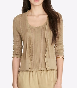 Lauren Ralph Lauren - Cable-Pointelle Cardigan