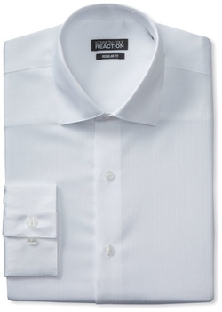 Kenneth Cole - Textured-Solid Dress Shirt