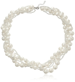 Bella Pearl - Cluster Pearl Necklace