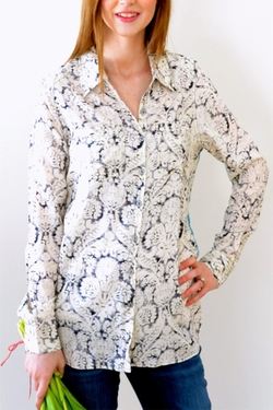 Aratta Silent Journey - Button-Up Print Blouse