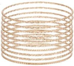 Bronzo Italia - Solid Textured Round Bangles