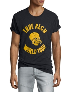 True Religion  - World Tour Skull Graphic T-Shirt