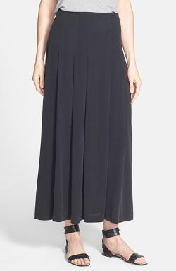 Eileen Fisher - Pleat Silk Maxi Skirt