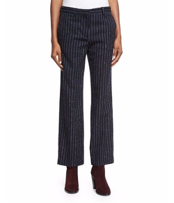 Acne Studios - Metallic-Pinstripe Cropped Pants