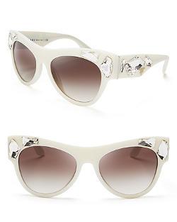 Prada  - Oversized Crystal Wayfarer Sunglasses