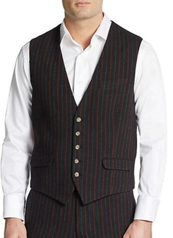 Gant by Michael Bastian - Striped Wool Blend Vest