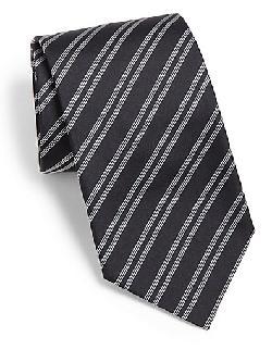 BOSS HUGO BOSS  - Striped Silk Tie