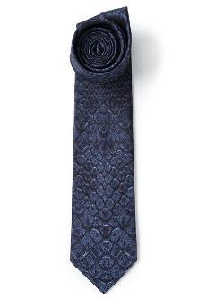 Alexander Mcqueen - Snakeskin Print Tie