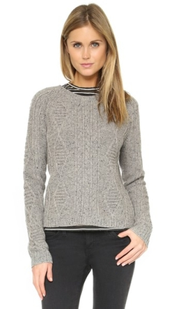 Madewell  - Knox Cable Pullover Sweater