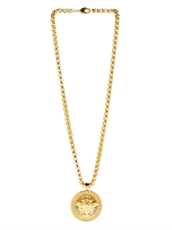 Versace - Medusa Gold-Plated Medallion Necklace