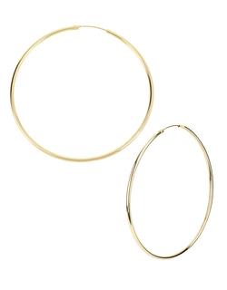 Kenneth Cole New York - Goldtone Large Hoop Earrings