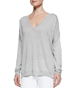 Vince - Silk/Cashmere V-Neck Sweater