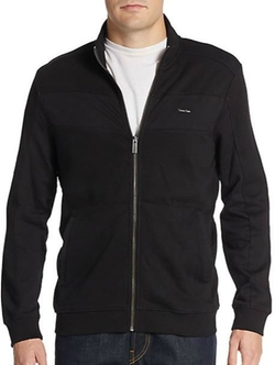 Calvin Klein  - Cotton Zip-Front Jacket