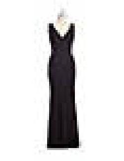 A.B.S. BY ALLEN SCHWARTZ  - V-Neck Drop Back Gown
