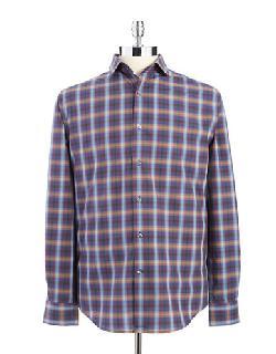 PERRY ELLIS  - Plaid Sports Shirt