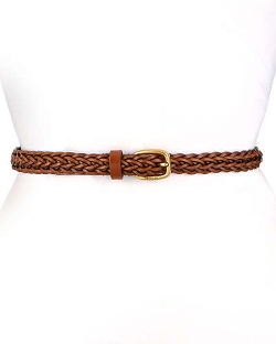 Gucci - Square Buckle Skinny Braided Belt