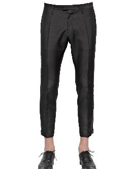 Dsquared - Wool & Silk Tidy Fit Tuxedo Trousers