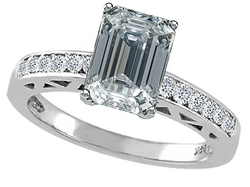 Tommaso Design Studio - Topaz And Diamond Solitaire Engagement Ring