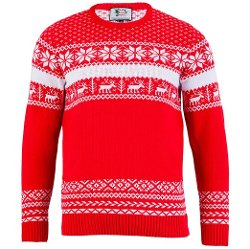 British Christmas Jumpers - The Nordic Red Xmas Sweater