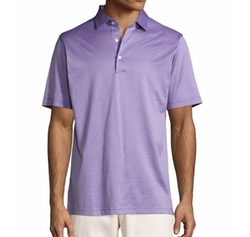 Peter Millar - Fran Jacquard Cotton Lisle Polo Shirt