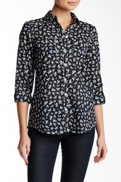 Foxcroft - Roll Tab Silhouette Daisy Shirt