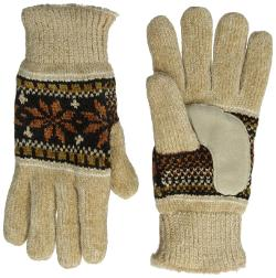 Isotoner  - Alpine Snowflake Chenille Glove with Suede Boomerang Palm