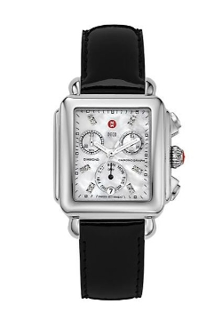 Michele Watches - Leather Chronograph Strap Watch