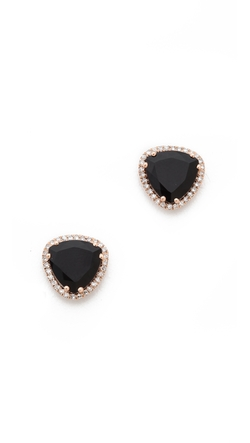 EF Collection - Diamond Stone Slice Stud Earrings