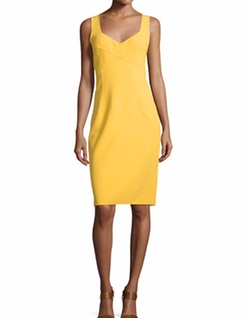 Michael Kors  - Sleeveless V-Neck Sheath Dress