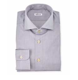 Kiton - Solid Poplin Dress Shirt