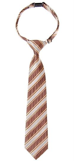 Retreez  - Preppy Stripe Pattern Woven Microfiber Pre-tied Boy