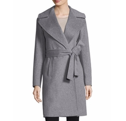 Fleurette - Notched-Collar Wool Wrap Coat