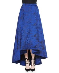 Alice + Olivia - Cohe Floral Brocade Asymmetric Skirt