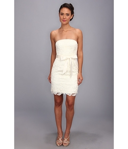 Adrianna Papell - Strapless Lace Sheath
