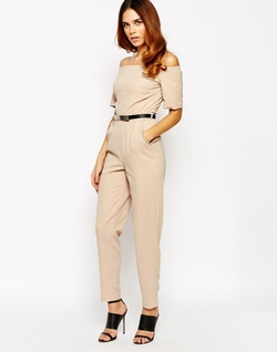 Warehouse - Off The Shoulder Jumpsuit