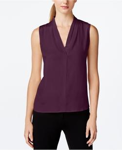 Calvin Klein - Sleeveless V-Neck Draped Top