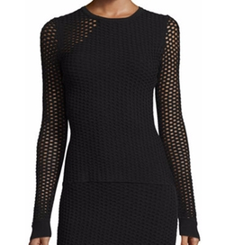 Opening Ceremony - Long-Sleeve Netted Mesh Top