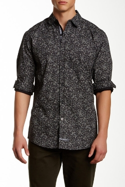 English Laundry - Paisley Print Long Sleeve Shirt