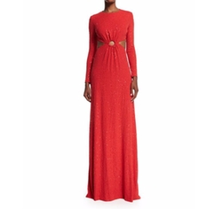 Michael Kors  - Long-Sleeve Embellished Gown
