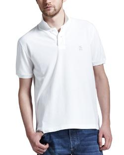 Brunello Cucinelli	  - Pique Logo Polo Shirt