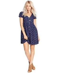 Denim & Supply Ralph Lauren  - Floral-Print Button-Front Dress