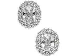 Kate Spade - Crystal Oval Stud Earrings