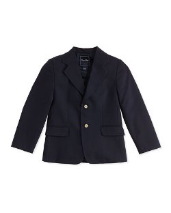 Oscar De La Renta   - Wool 2-Button Blazer