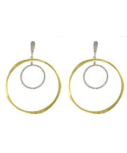 Meira T - Diamond Double Hoop Earrings