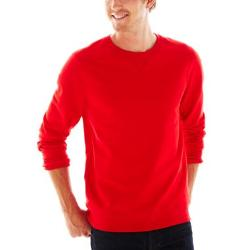 jcp™  - French Terry Crewneck Sweater