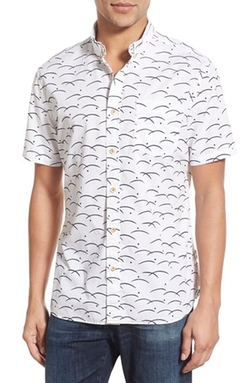 Surfside Supply - Wave Print Sport Shirt